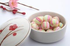 Шарообразная конфета, помадки Киото японца Стоковые Изображения