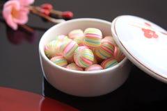 Шарообразная конфета, помадки Киото японца Стоковая Фотография