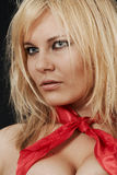 шарф девушки величественный красный Стоковые Изображения RF