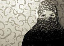 шарф девушки Стоковые Изображения RF