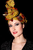 Шарф женщины головной Стоковые Фотографии RF