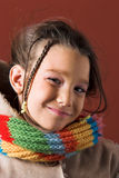 шарф пальто ребенка Стоковые Фото