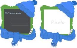 шарф рамки крышки Стоковая Фотография