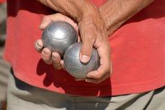 шары держа человека Стоковое фото RF