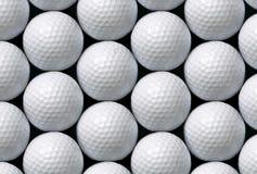 Шары для игры в гольф выровняли горизонтальное и вертикальное стоковое фото rf
