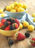 Шары ягод и плодоовощей Стоковое Изображение