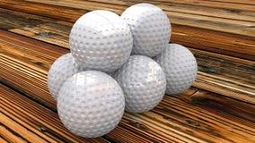 Шары для игры в гольф Стоковое Фото