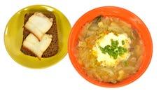 Шар бекона хлеба сандвича блюда капусты супа Стоковое фото RF