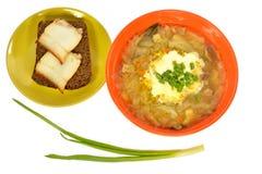 Шар бекона хлеба сандвича блюда капусты супа Стоковая Фотография