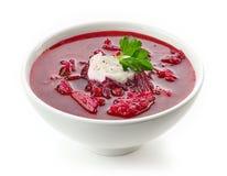 Шар борща супа корня свеклы Стоковая Фотография