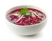 Шар борща супа корня свеклы Стоковые Фото