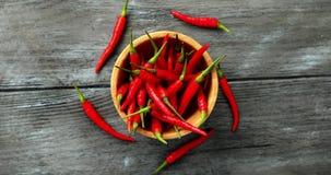 Шар зрелых перцев chili видеоматериал