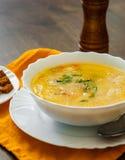 Шар куриного супа с овощами Стоковая Фотография RF