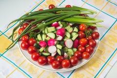 Шар овощей на салфетке Стоковое Изображение