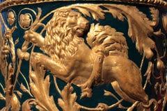 шар ограждая льва золота Стоковое Фото