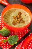 Шар перца chili и супа брокколи Стоковые Изображения RF