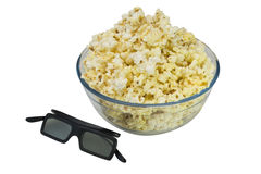 Шар попкорна и стекел 3d Стоковое Фото