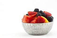 Шар плодоовощей противостарителя сложенных с ягодами и дынями Стоковая Фотография RF