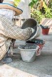 шар работника cleanning смешанный Стоковое Изображение