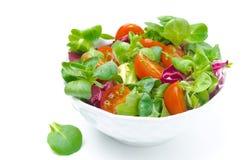 Шар свежих изолированных томатов салата и вишни Стоковое Изображение