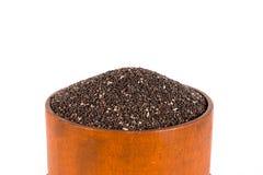 Шар семян Chia изолированных на белизне Стоковые Фото