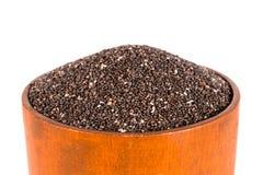 Шар семян Chia изолированных на белизне Стоковое Изображение RF