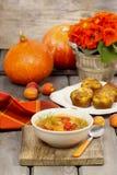 Шар супа томата и перца Стоковые Изображения RF