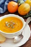 Шар супа тыквы стоковые изображения