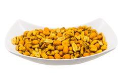 Шар с зажаренными в духовке арахисами и семенами мозоли Стоковая Фотография