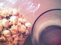 Шар с предпосылкой попкорна Стоковые Фото