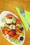 Шар с свежими салатом и вилкой Стоковое Изображение