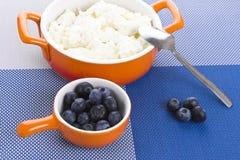 Шар с творогом и ягодами Стоковая Фотография