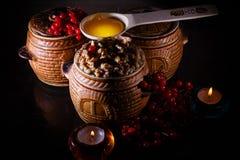 Шар с kutia - едой традиционного рождества сладостной в Украине, Беларуси и Польше Стоковая Фотография