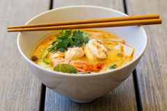Шар традиционного тайского супа батата Tom Стоковое Изображение