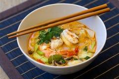 Шар традиционного тайского супа батата Tom Стоковое Фото