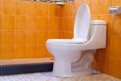 Шар туалета в ванной комнате Стоковое фото RF
