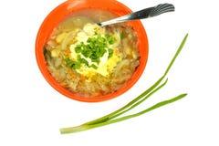 Шар лука бекона хлеба сандвича блюда капусты супа Стоковое Изображение