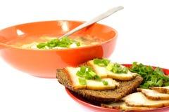 Шар лука бекона хлеба сандвича блюда капусты супа Стоковое фото RF
