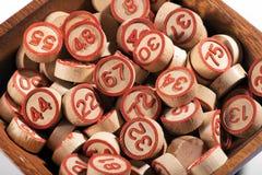 Шар удачливых круглых деревянных номеров bingo Стоковое Изображение
