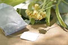 шар цветет стеклянный tilia чая таблицы липы деревянный Стоковые Фотографии RF