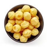 Шар шариков картошки на белизне, сверху Стоковая Фотография RF