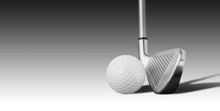 Шар для игры в гольф и утюг стоковые фото