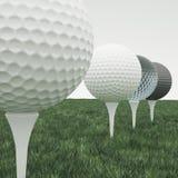 Шар для игры в гольф, множественный Стоковое Изображение RF