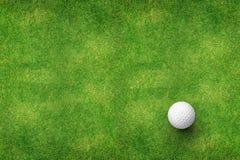 Шар для игры в гольф на взгляд сверху травы Стоковое Изображение RF