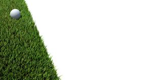 Шар для игры в гольф на зеленом цвете 01 Стоковые Изображения