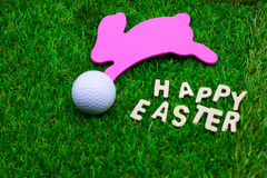 Шар для игры в гольф на празднике пасхи Стоковые Изображения