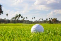 Шар для игры в гольф на проходе Стоковая Фотография