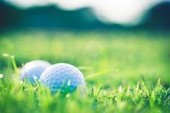 Шар для игры в гольф на траве Стоковые Изображения RF