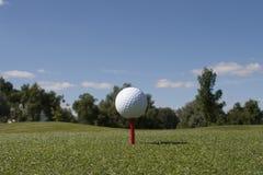 Шар для игры в гольф на тройнике Стоковое Изображение RF