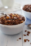 Шар granola с изюминками и семенами Стоковая Фотография RF